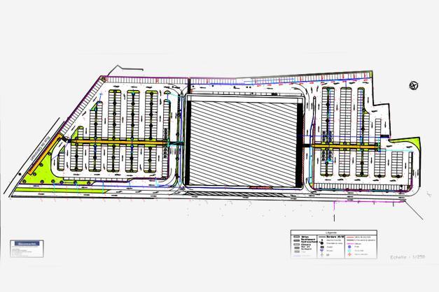 Réalisation d'une étude complète pour le parking de l'Acinapolis à Namur